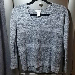 H&M Conscious Gray Knit V-Neck Sweater